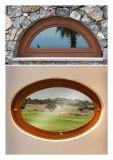 Finestra rotonda di alluminio di nuovo disegno con la quercia/teck/legno solidi pino/del larice dal disegno professionale del fornitore della Cina