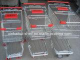 Carro de compra do trole do caminhão de mão do metal do supermercado do vendedor superior