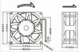 Hochgeschwindigkeits12v 24V 8038 80mm 80X80X38mm Gleichstrom-Kühlventilator