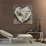 Amour décoratif de la peinture à l'huile