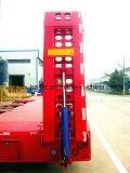 A fábrica dirige o eixo 3 resistente/carga/baixo reboque de serviço público do caminhão de reboque da base Semi com Gooseneck