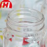 Vaso di muratore di vetro con le maniglie ed il marchio su ordinazione