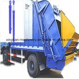 Caminhão de lixo que levanta o cilindro hidráulico