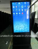 55/65/75inch lugares públicos de interior Digitaces que hacen publicidad de la visualización de la muestra del jugador del anuncio del LCD de la máquina