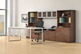 Manager Office Furniture, Modern White Desktop Steel Foot Office Desk (SZ-OD364)