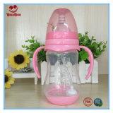 bouteilles à lait en plastique du collet 240ml large avec le traitement et la base