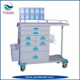 Multi fonction ABS Chariot de soins infirmiers hospitaliers et médicaux avec panier