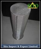 De roestvrij staal Geperforeerde Filter van de Cilinder van het Netwerk