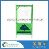 1.8X1.8 0.9X1.8 vert/garantie jaune clôturant avec la plaque pour le Japon
