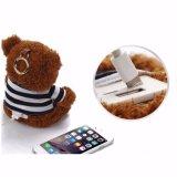 Côté de pouvoir de jouet de peluche d'ours de nounours de chargeur de batterie de dessin animé avec le trousseau de clés