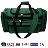 Green Roomy Shoulder Mens Travel Bag con Zipper