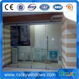 Portes en verre sans soudure commerciales à double grille en acier à haute qualité