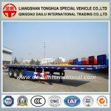 3 des essieux 40FT de lit plat de conteneur de Semi-Trialer remorque semi