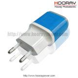 Adapter van de Stop van de EU de V.S. van de Toebehoren van de Telefoon van de Lader USB van de fabriek 5V 2A de Mobiele de Dubbele Adapter van de Lader van het Huis van de Lader van de Reis USB