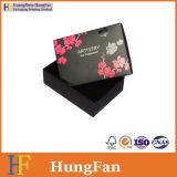 디자인 서류상 포장 선물 판지 상자를 인쇄하는 호화스러운 검정