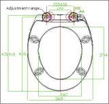 Cubierta de asiento cerrada suave ergonómica de tocador del estándar europeo