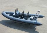 Aqualand 21feet Hypalon Barco de motor / inflable rígido / costilla Barco (RIB640T)