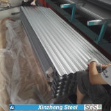 Hoja acanalada/del trapezoide del material para techos, hoja acanalada galvanizada del material para techos