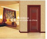 Esqueleto de madeira sólida PVC Film Finished Interior Wooden Door