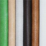 女性の`Sのサンダルのための標準的な方法トカゲパターンPUの靴革