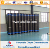 Panneau de drainage imperméable à membrane Membrane en HDPE 0.6mm 10mm 150g