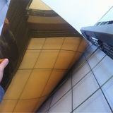 متحمّل ومرآة بيئيّة ذهبيّة أكريليكيّ [شيت/] مساء مرآة صفح