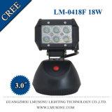 18W lumière de clignotement rechargeable de travail du CREE intelligent superbe DEL