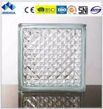 Tijolo de vidro de vidro do espaço livre 190X190X80mm da estrutura do bloco de Jinghua/bloco