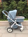 Baby Stroller 2 in 1 Winter Style off Blue Color