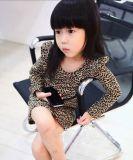 Mädchen-Leopard-Baumwollange Hülsen-Kleider