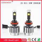 Faro delle lampadine del faro dell'automobile LED di vendita diretta 2s H11 30W 2800lm LED della fabbrica con il prezzo competitivo