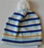 Теплый Детский трикотажные шапки с Beanie POM POM