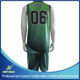 Quick-Dryカスタム完全な昇華印刷の優れたバスケットボールのスーツ