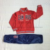 Одежды костюма спорта мальчика трика полиэфира красные в малышах одевая Sq-6223