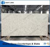 Plak van de Steen van het Kwarts van Carrara de Witte voor Countertops van de Keuken met SGS Normen (Marmeren kleuren)