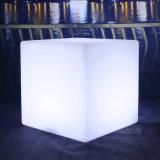 De Waterdichte Barkruk van de witte LEIDENE van het Meubilair van het Terras RGB Plastic Zetel van de Kubus voor Verkoop