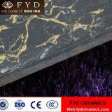 Pulatyの黒くか暗いタイルの磨かれた磁器の床タイルのサンプルは放す