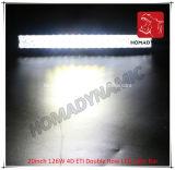 Barre d'éclairage LED de rangée de pouce 126W 4D ETI de la lumière 20 de véhicule de DEL double pour le véhicule DEL de SUV outre de la lumière de route et de la lumière pilotante de DEL