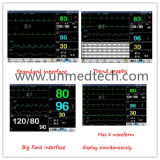 12,1 pulgadas seis parámetros Monitor de paciente con nueva interfaz (ONU-8000)