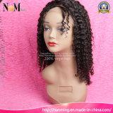 De mooie Volledige Pruik van het Kant Afro Kroezige Krullende Natuurlijke Hairline Glueless