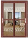 Porte coulissante en aluminium pour les foyers et des bureaux