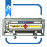 Réservoir d'azote liquide horizontale largement utilisés récipient de transport