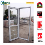 Porta francesa de vidro dobro padrão de Austrália, porta do vidro de segurança com projeto da grade