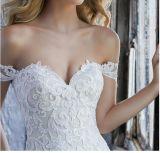 2018年の外装のレースの花嫁の結婚式のウェディングドレスWd203