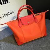 Formati di nylon Emg4693 del tessuto 3 delle borse del progettista del cuoio genuino del sacchetto di Tote
