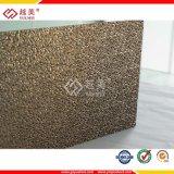 Material de construcción grabado policarbonato del toldo de la hoja del material para techos de Yuemei