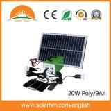 (HM-209) поли солнечная система DC 20W9ah с СИД и USB