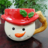 De ceramische Kop van de Mousse van Kerstmis van de Kop van de Gift van de Kop Tiramisu Promotie