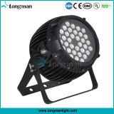 段階のためのDMX512 36*3W RgbawのズームレンズLEDの照明同価キット