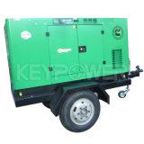 Keypower 50 ква подвижной генератор с колеса прицепа 60Гц для области сетки не подается питание